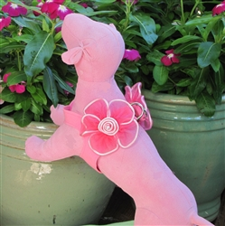 PINK FLOWER ULTRASUEDE HARNESS
