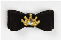 Black Ultrasuede Princess Hairbow