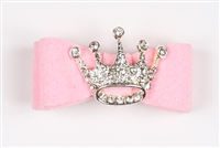 Puppy Pink Ultrasuede Princess Hairbow