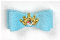 Robin's Egg Ultrasuede Princess Hairbow