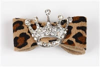 Cheetah Ultrasuede Princess Hairbow