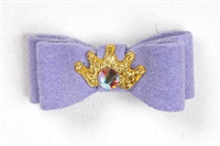 Lavendar Ultrasuede Princess Hairbow