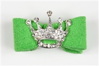 Green Ultrasuede Princess Hairbow