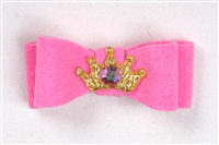 Pink Ultrasuede Princess Hairbow