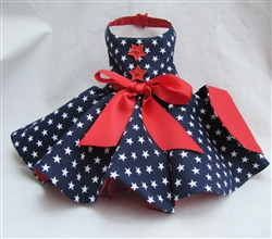 BLUE WHITE AND RED PATRIOTIC DRESS