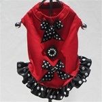 RED WHITE AND BLACK BLING TANK