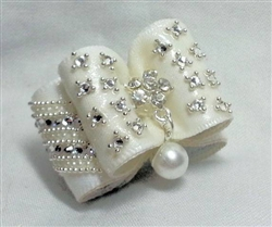 DIAMONDS AND PEARLS HAIRBOW